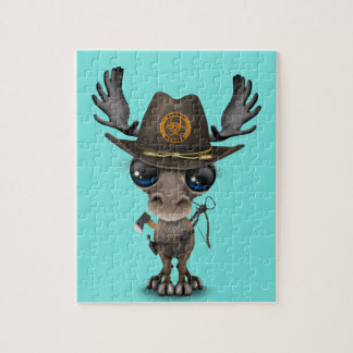 Baby Moose Zombie Hunter Jigsaw Puzzle