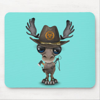 Baby Moose Zombie Hunter Mouse Pad