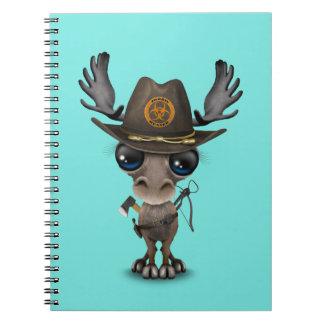 Baby Moose Zombie Hunter Notebook