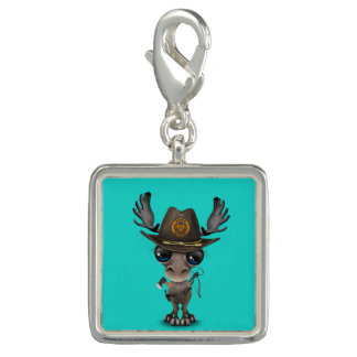 Baby Moose Zombie Hunter Photo Charm