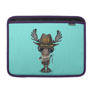 Baby Moose Zombie Hunter Sleeve For MacBook Air