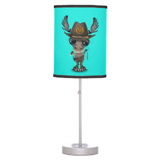 Baby Moose Zombie Hunter Table Lamp