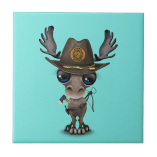 Baby Moose Zombie Hunter Tile