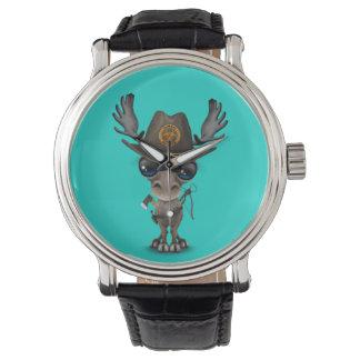 Baby Moose Zombie Hunter Wrist Watches