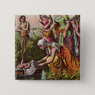 Baby Moses In A Basket 2 Inch Square Button
