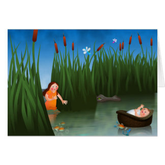 Baby Moses Passover Cartoon Card