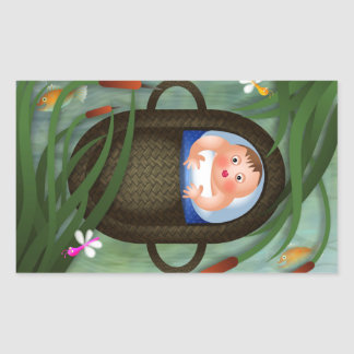 Baby Moses Passover Cartoon Sticker