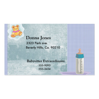 Baby Motiif In Blues Business Card Template