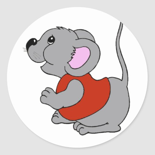 Baby Mouse Round Sticker