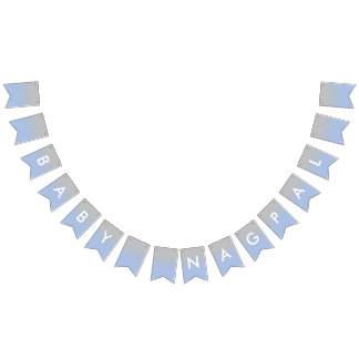 Baby Nagpal Ombre Blue and Silver Banner