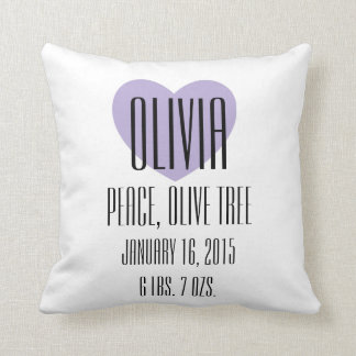 Baby Name Meaning Pillow - Olivia