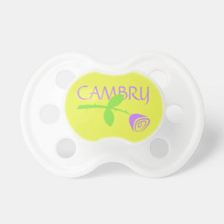 Baby Name & Rose Bud Pacifier