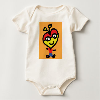 baby nerd heart baby bodysuit