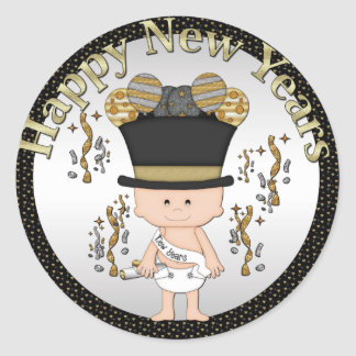 Baby New Years Eve Holiday sticker
