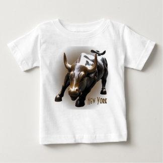 Baby New York Shirt Bull Statue Souvenir Shirt