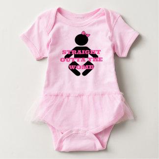 Baby Newborn Straight outta the Womb Pink tutu Baby Bodysuit
