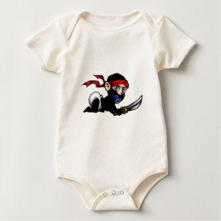 Baby Ninja Infant Ninjutsu Baby Bodysuit