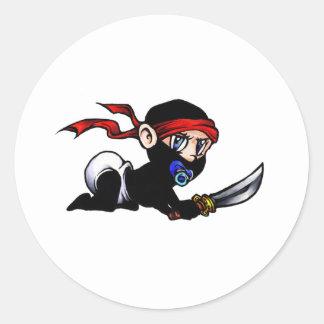 Baby Ninja Infant Ninjutsu Classic Round Sticker