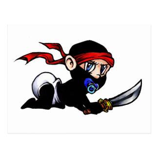 Baby Ninja Infant Ninjutsu Postcard