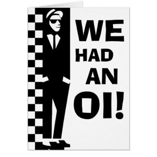 baby oi announcements (ska rude boy) note card