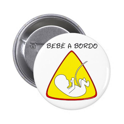 Baby on board pinback button