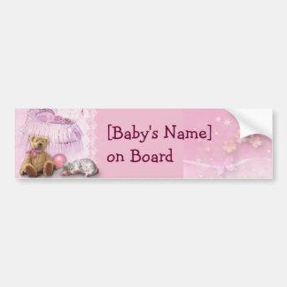 Baby on Board (customizable) Bumper Sticker