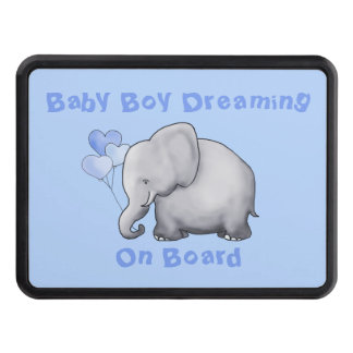 Baby on Board Cute Heart Balloon Elephant Trailer Hitch Cover