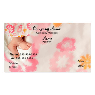 Baby on Pink Pack Of Standard Business Cards