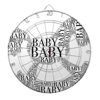 Baby on Rocking Horse Dartboard