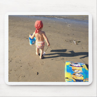 Baby on the beach mouse pad
