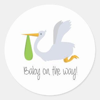 Baby On The Way Classic Round Sticker