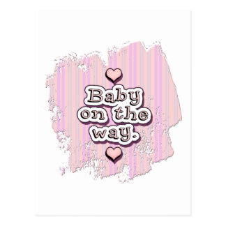 Baby on the Way - girl Postcard