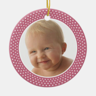 Baby or Birth Photo - It's a Girl - Double Sided Ceramic Ornament