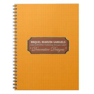 Baby Orange Fruit Decorated Nature Modern Notebook