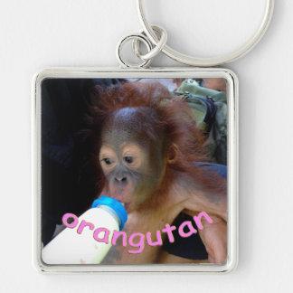 Baby Orangutan Drinks Bottle Keychain