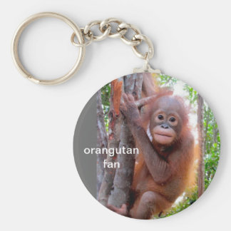 Baby Orangutan in Tree Keychain
