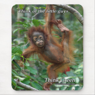 Baby Orangutan Mouse Pad