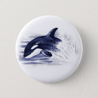 Baby Orca Jump 2 Inch Round Button