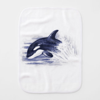 Baby Orca Jump Burp Cloth