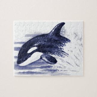 Baby Orca Jump Jigsaw Puzzle