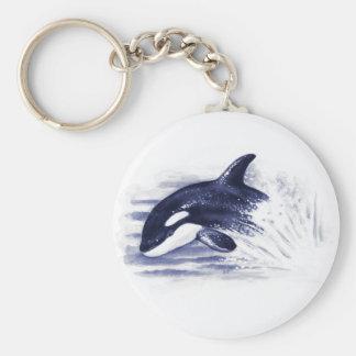 Baby Orca Jump Keychain