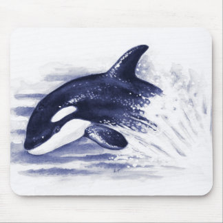 Baby Orca Jump Mouse Pad