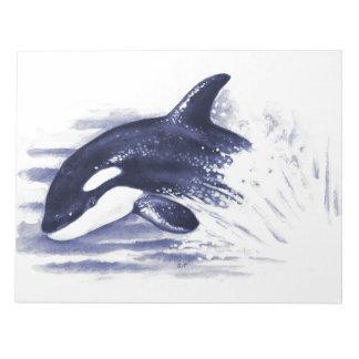 Baby Orca Jump Notepad