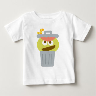 Baby Oscar the Grouch in Trashcan Baby T-Shirt