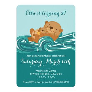 Baby Otter Birthday Party Invitation