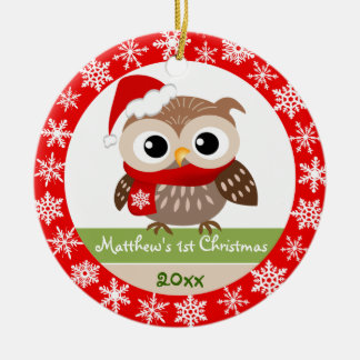Baby Owl 1st Christmas Ornament