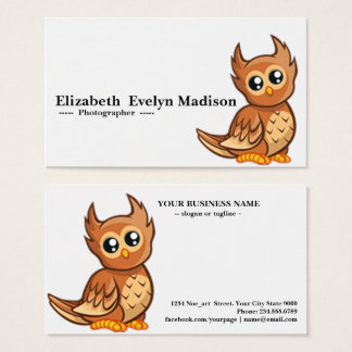 baby owl 765 business card