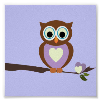 Baby Owl/ Nursery Decor Poster