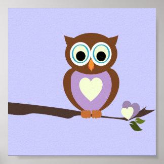 Baby Owl/ Nursery Decor Poster