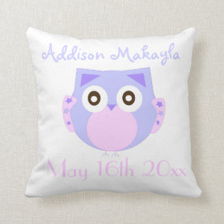 Baby Owl Personalized Pillows